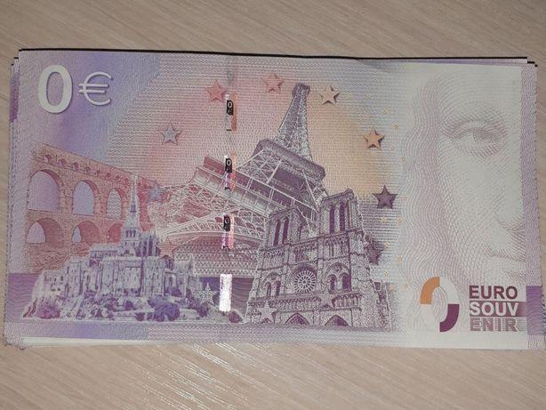 Банкнота 0 евро, оригинал.