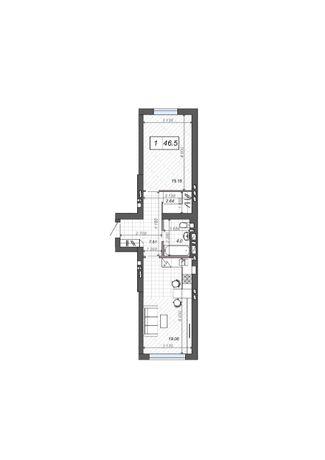 Просторная 1-но комнатная квартира