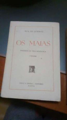 """Livros """"Os Maias"""" edição de 1966. VOLUMES I e II"""
