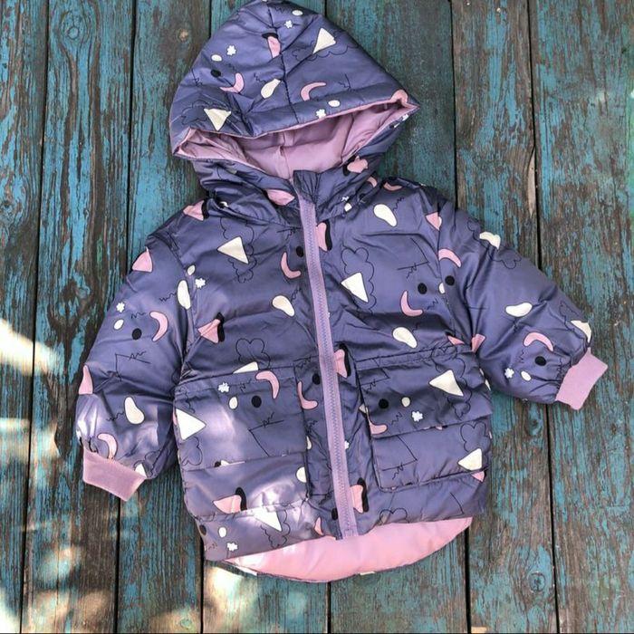 Теплая демисезонная куртка до -5. Теплая куртка на девочку. 86-92 Днепр - изображение 1