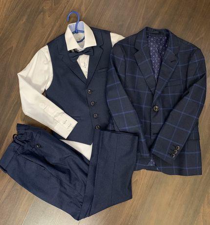 Костюм классический брюки рубашка жилет пиджак выпускной в школу сад