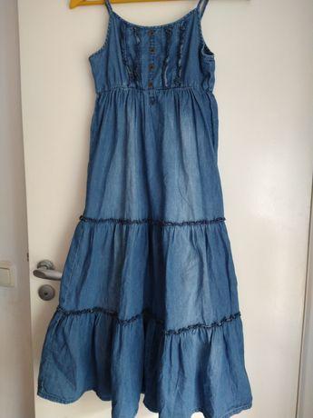 Next sukienka dżinsowa 146/152, długa
