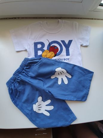 Костюм комплект на мальчика рост 104 НОВЫЙ шорты футболка