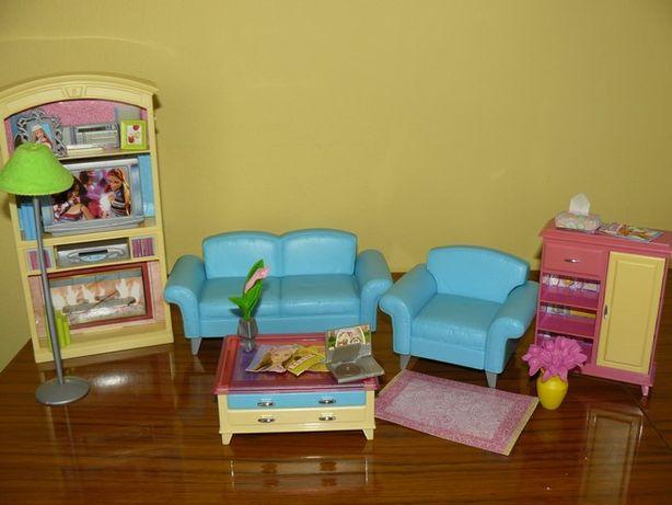 Barbie mebelki salon Mattel