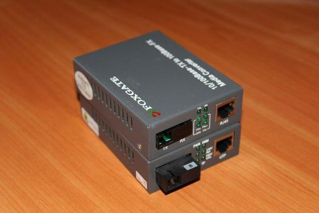 Пара медиаконвертеров 1550 + 1310 (100 Мбит, Foxgate, TKO, Step)