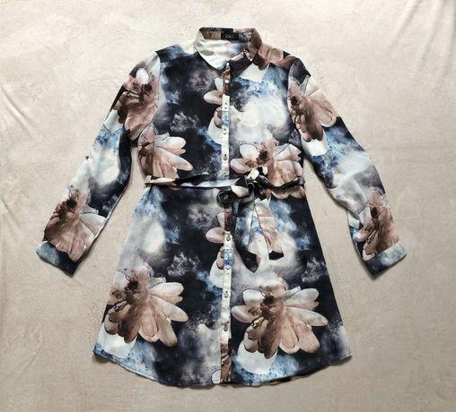 Летнее платье-рубашка с шикарным принтом