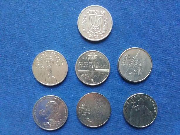 Набір ювілейних монет 1 гривня України.