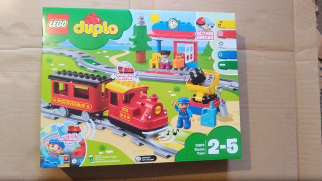 Nowy zestaw Lego 10874 Duplo - Pociąg parowy