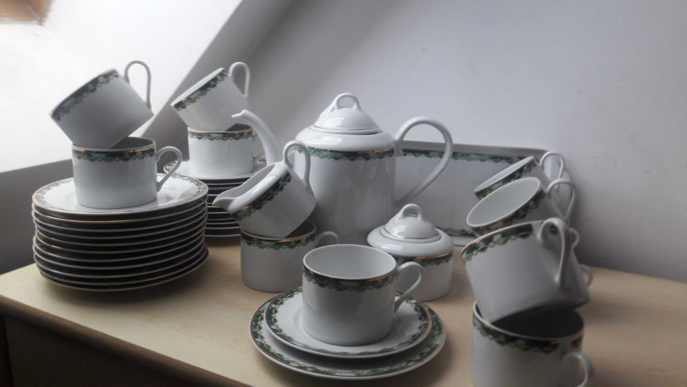 """""""Lubiana"""" serwis kawowy na 12 osób porcelana. Sopot - image 1"""