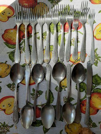 Ложки вилки ножи нержавейка распоодажа СССР