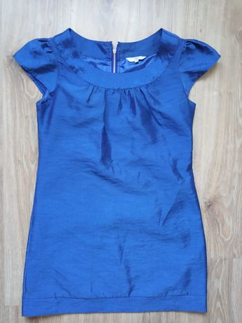 Kobaltowa chabrowa New LooK sukienka tunika 40 / 12 damska