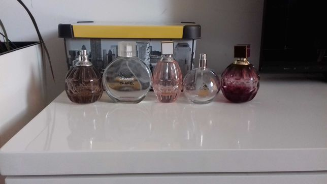 Flakony po perfumach Jimmy Choo, Chanel, Lanvin