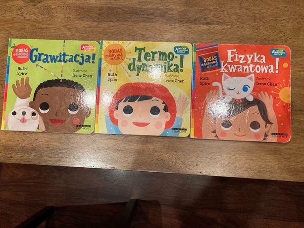 3 książeczki z serii Bobas odkrywa naukę