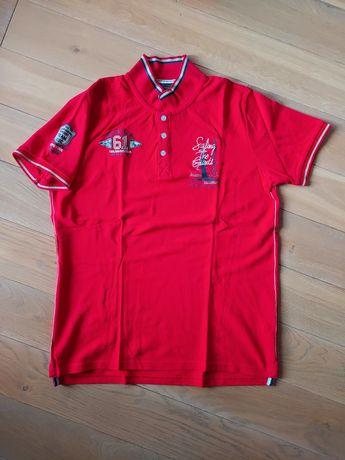 Polo czerwone XL