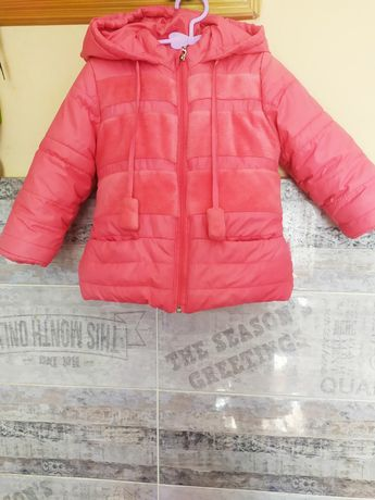 Тепла зимова курточка для дівчинки 2-3р