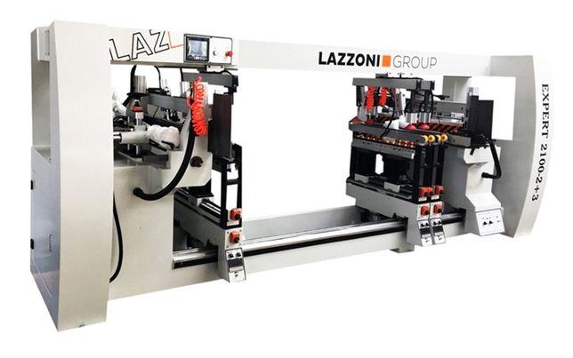 LAZZONI GROUP - Wiertarka przelotowa EXPERT 2100-2+3 (łóżko sosnowe)
