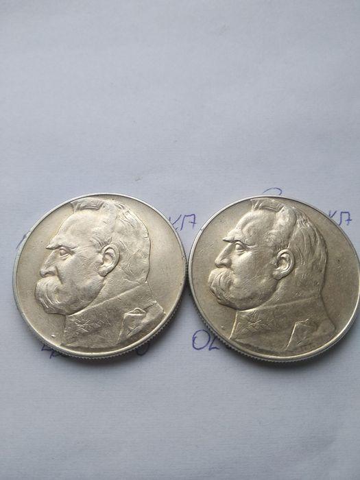 Monety--10zł Piłsudski-35-36--srebro-- Olsztyn - image 1