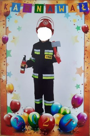 Strój strażaka kostium na bal 110 3-4 lata