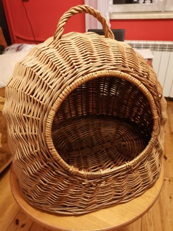 Koszyk legowisko wiklinowe dla kota psa