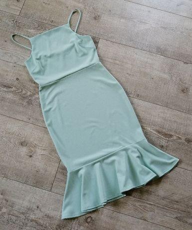 New Look_sukienka bodycon miętowa_rozmiar 38/40