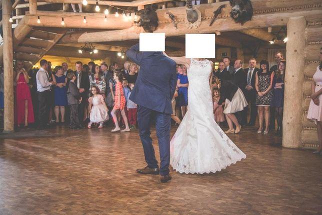 Suknia Ślubna Ecru Flora r.36 Okolice Suchej Beskidzkiej