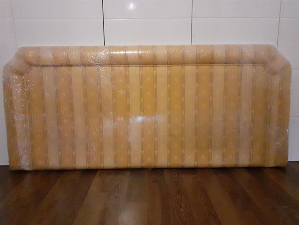 Cabeceira de Cama de Casal em Madeira Forrada a Tecido