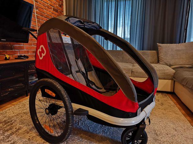 Wynajem - przyczepka rowerowa Hamax dla jednego lub dwójki dzieci.