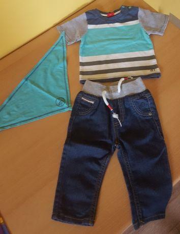 Komplet s.Oliver r.68 bluzka, spodnie, chustka lepsze niz h&m