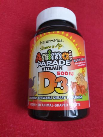 Nature's Plus, SourceofLife, AnimalParade, витаминD3,