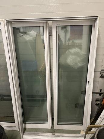 Porta/janela de aluminio em vidro duplo