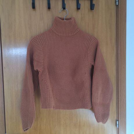 Camisola de gola alta em lã da H&M
