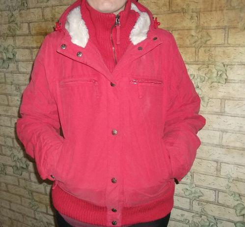 Куртка зимняя с мехом почти новая