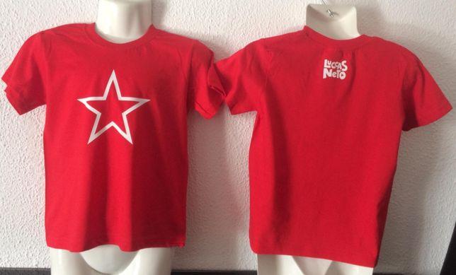 T-shirt 3 a 14 anos Boneco Luccas Neto e giovanna Gi Neto REVENDA