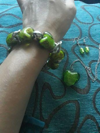 Conjunto colar pulseira brincos