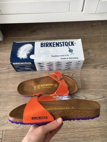 Birkenstock buty klapki madrid birko-flor graceful orange 38