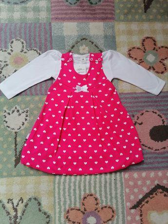 Nowa sukienka z bluzeczką r. 80