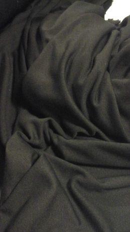 Tkanina czarna typu jersey