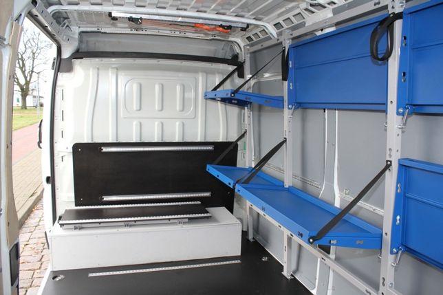 Zabudowa KURIERSKA busa kurier półki podłoga boki WSZYSTKIE AUTA