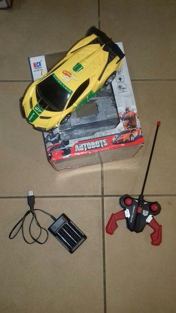 Машинка на радиоуправлении в коробке с зарядкой жёлтая