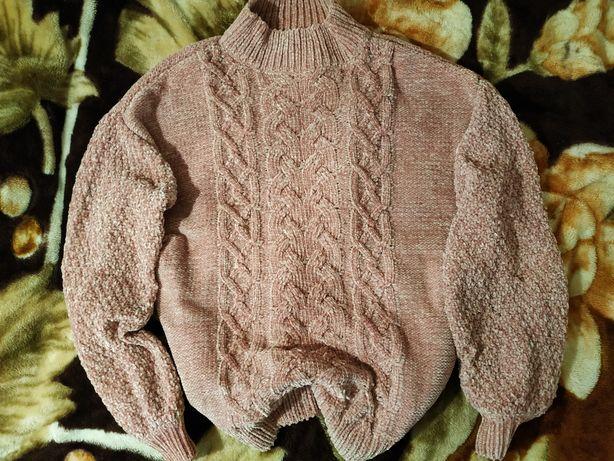 Шикарный велюровый фирменный свитер primark