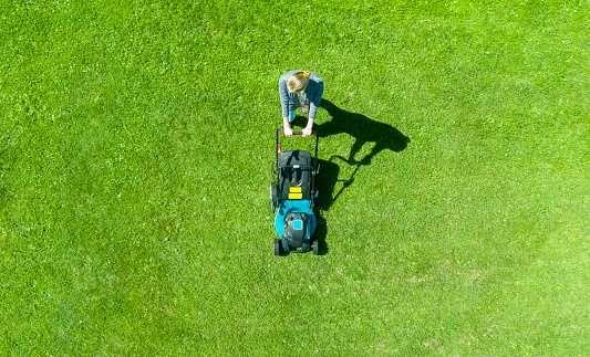 Ogrodnik, koszenie trawy, pielęgnacja i utrzymanie terenów