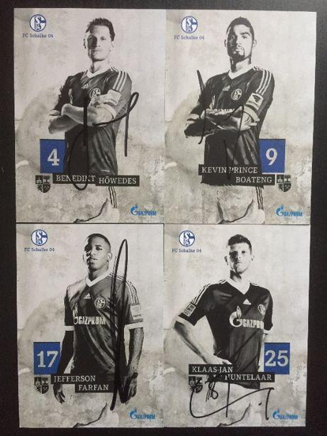 Autografy Schalke – Howedes, Boateng, Farfan, Huntelaar