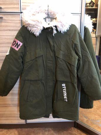 Куртка парка  для девочки Zara, 10-12 лет, рост 152