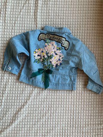Модная джинсовка детская