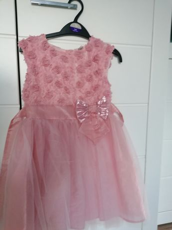 Sukienka wizytowa 122/128 piękna stan idealny wesele chrzciny komunia