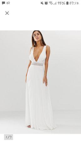 Biala sukienka koktajlowa