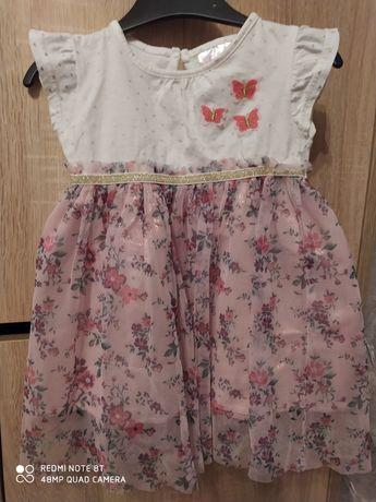 Sukienka dla dziewczynki roz 86
