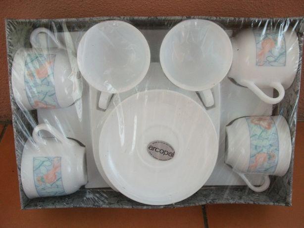 Conjunto de 6 Chávenas de Chá Arcopal (como NOVO)