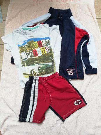 4-cz. Dres sport bluza koszulka spodenki szorty 116,122,128 piłkarski