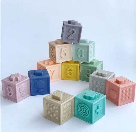 Дитячі силіконові пірімідки кубики